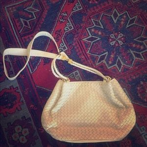 White Vintage Leather shoulder bag